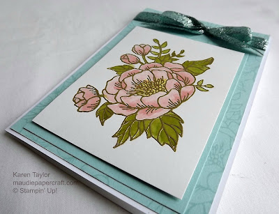 Stampin' Up! Birthday Blooms heat embossed card