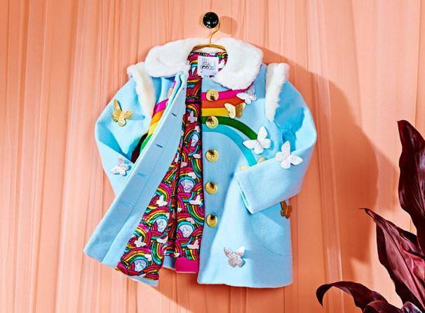 Rainbow Butterfly Coat