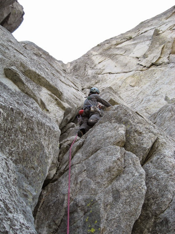 Continued Climbing up the Flying Buttress - Photo courtesy of Steph Abegg.