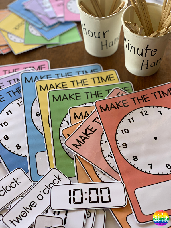 How to Teach Children to Tell Time - teaching ideas and printable resources to use when teaching how to tell time to young children | you clever monkey