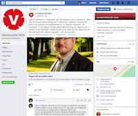 Skärmdump av Facebook-inlägg från V som delvis berörde kollektivtrafik