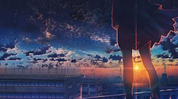 Anime, Sunset, Clouds, Scenery, 4K, #6.2608