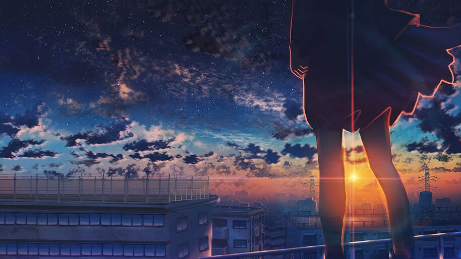 Anime, Sunset, Clouds, Scenery, 4K, #6.2608