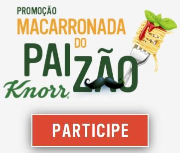 Macarronada Paizão Knorr Promoção 2021