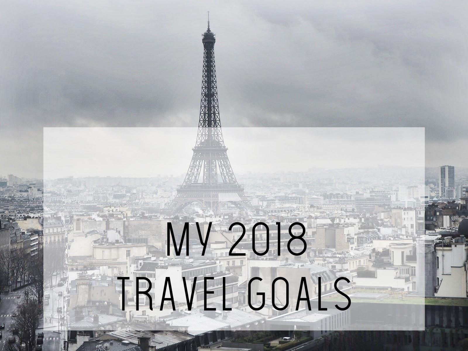 Travel: My 2018 Travel Goals