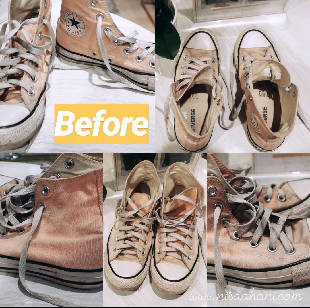 fbe3dd86f Ke sana, saya membawa babies kesayangan, Converse salem yang sudah agak  pudar warnanya setelah saya cuci sendiri dan flat shoe Bata berwarna pink  berbahan ...