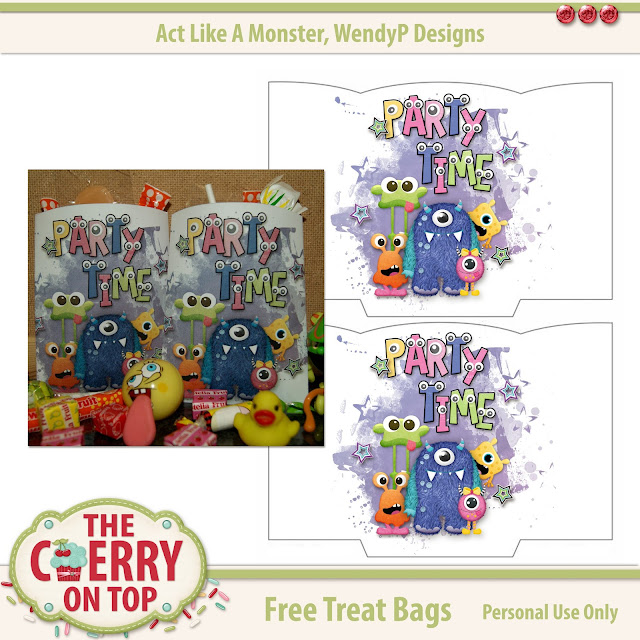 Free Printable Treat Bags from The Cherry On Top and WendyP Designs