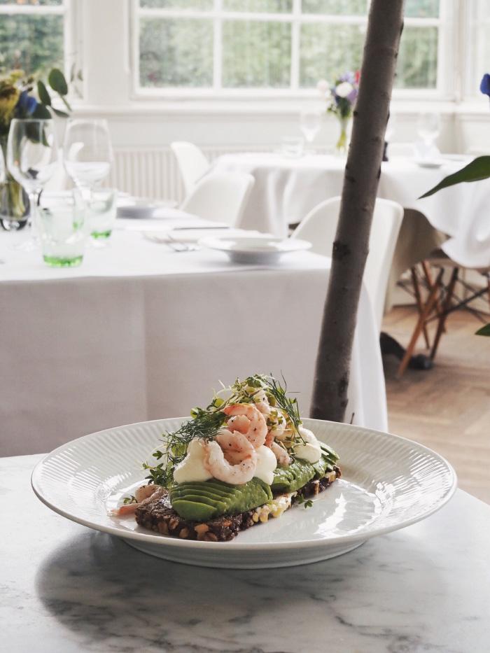 Smørrebrød au restaurant l'Orangerie à Copenhaggue