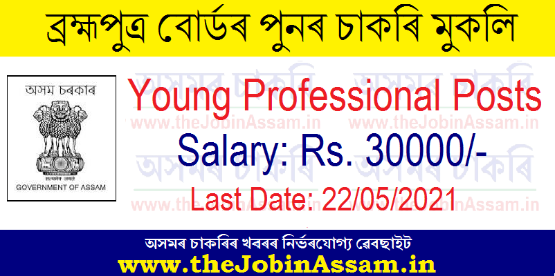 Brahmaputra Board Recruitment 2021: Apply for 02 Young Professional Vacancy