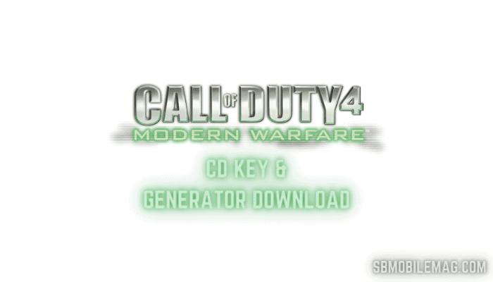 Call of Duty 4 Modern Warfare CD Key, Call of Duty 4 Modern Warfare Serial Key