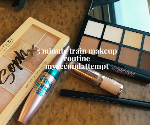 5 Minute Train Makeup Routine