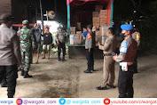 Patroli Gabungan, Polsek Allah Sampaikan Himbauan Prokes