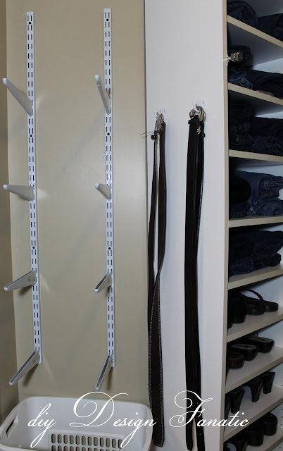 baskets, master closet, organization, storage shelves, add space to your closet