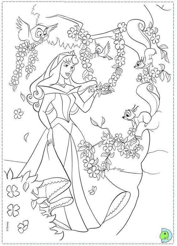Tranh tô màu nàng công chúa ngủ trong rừng 02