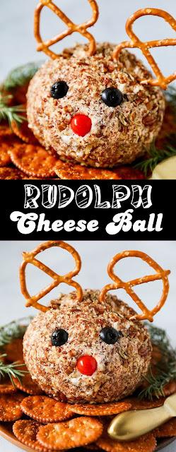 Easy #Rudolph Cheese Ball #Recipe #easyrecipe