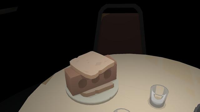 Screenshot of a brick sandwich in Kentucky Route Zero
