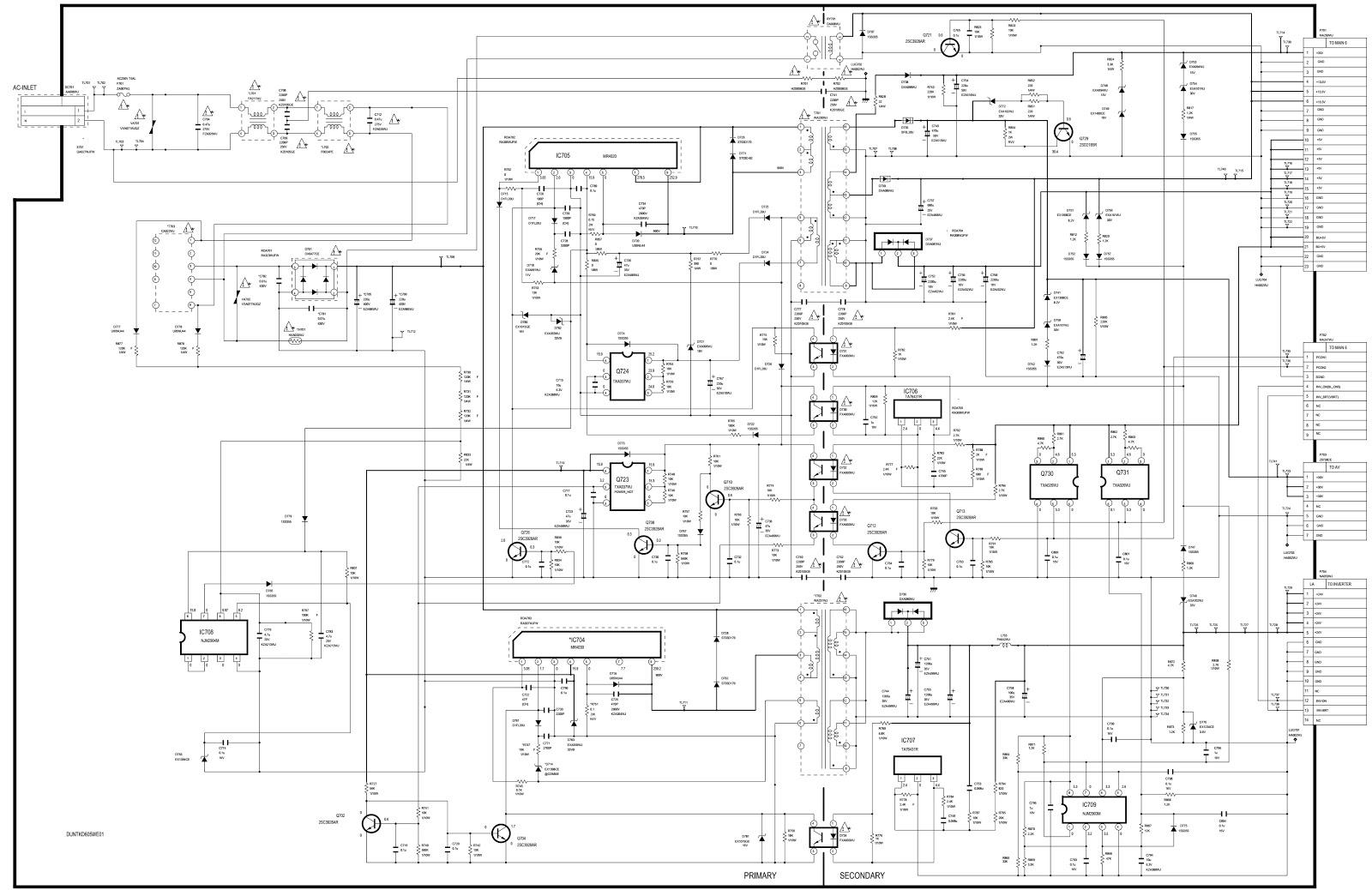 Schematic Diagrams  Sharp Lc26  Lc32 And Sharp Lc37  U2013 Lcd Tvs  U2013 Smps And Back Light Inverter