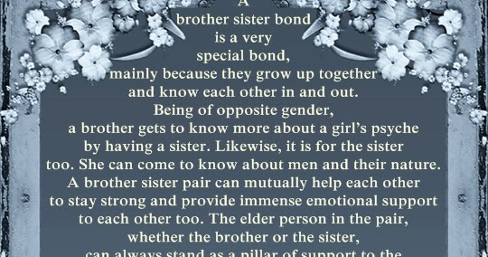 Brother And Sister Support Quotes: A Brother Sister Bond, Family Loyalty Quotes