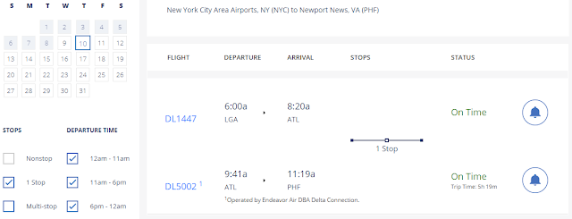 delta airlines check arrival times