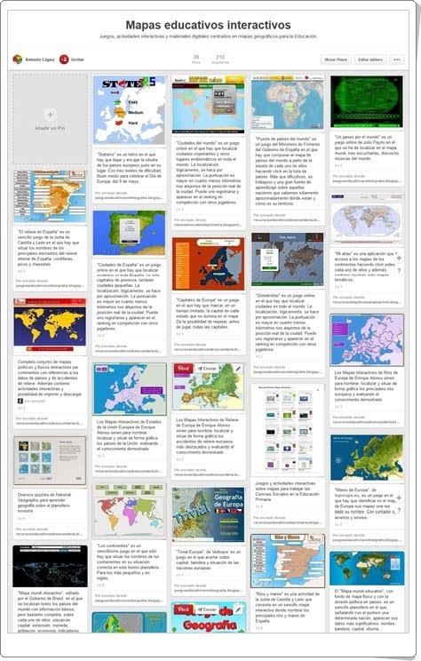 """""""Conjunto de Mapas interactivos para el aprendizaje de las Ciencias Sociales"""""""