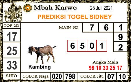 Prediksi Jitu Mbah Karwo Sdy Rabu 28 juli-2021