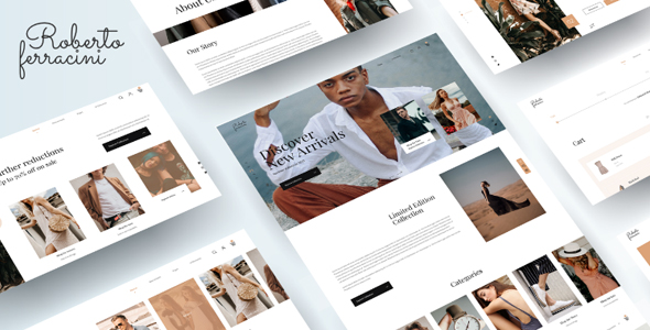 Beautiful Fashion and Clothing Shop Template