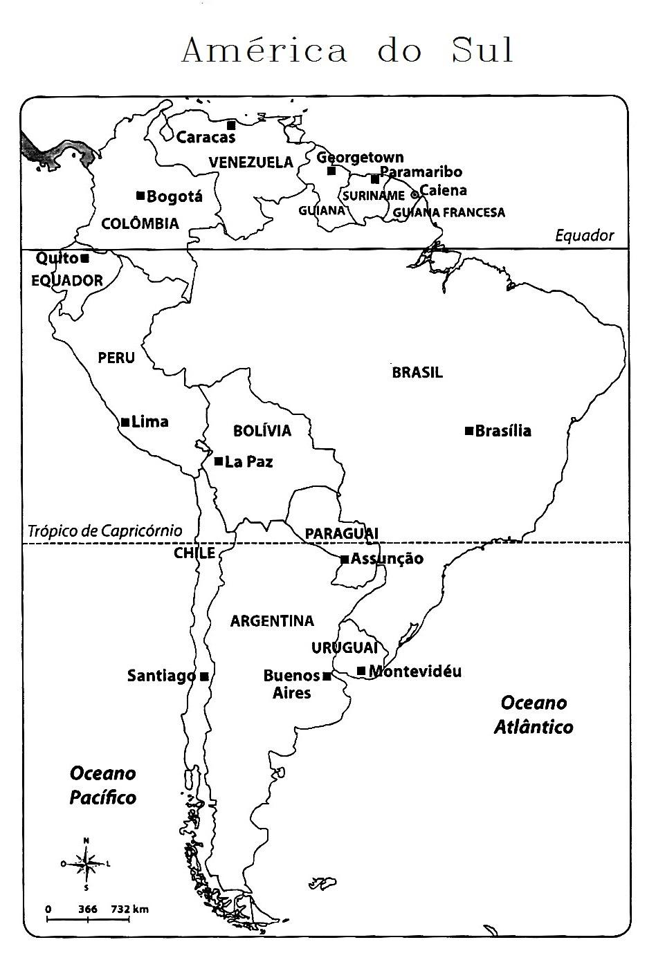 Blog De Geografia Mapa Da America Do Sul Com Paises E Capitais