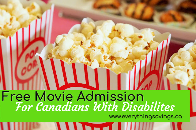 Free Movie Admission For Canadians With Disabilities Needing a Support Person