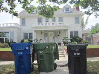 The Cunnigham Residence From Happy Days on Garbage Day.