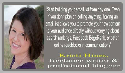 tips blogging kristi hines