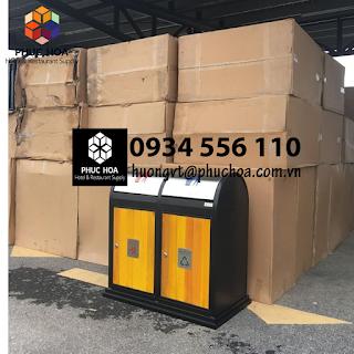 Thùng rác gỗ phân loại rác PH-99A