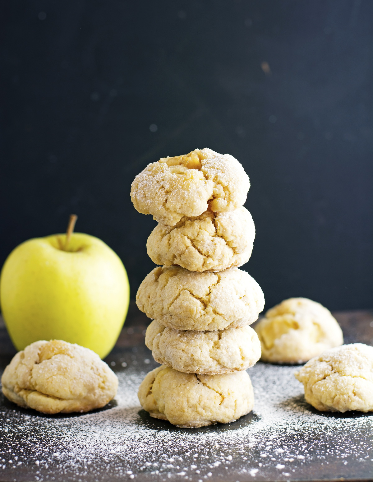 Soft Apple Crinkle Cookies