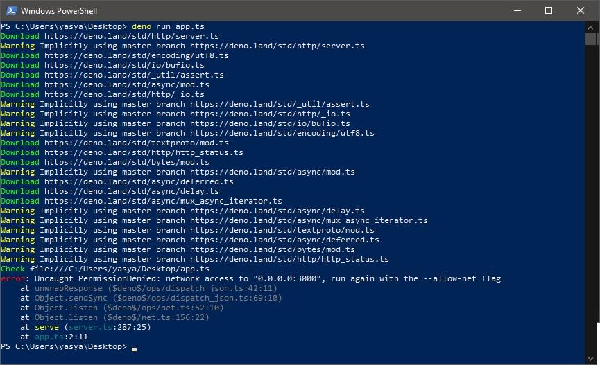 mendownload module dan meng-compile kode TypeScript