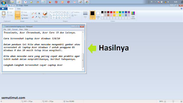 cara screenshot layar laptop acer