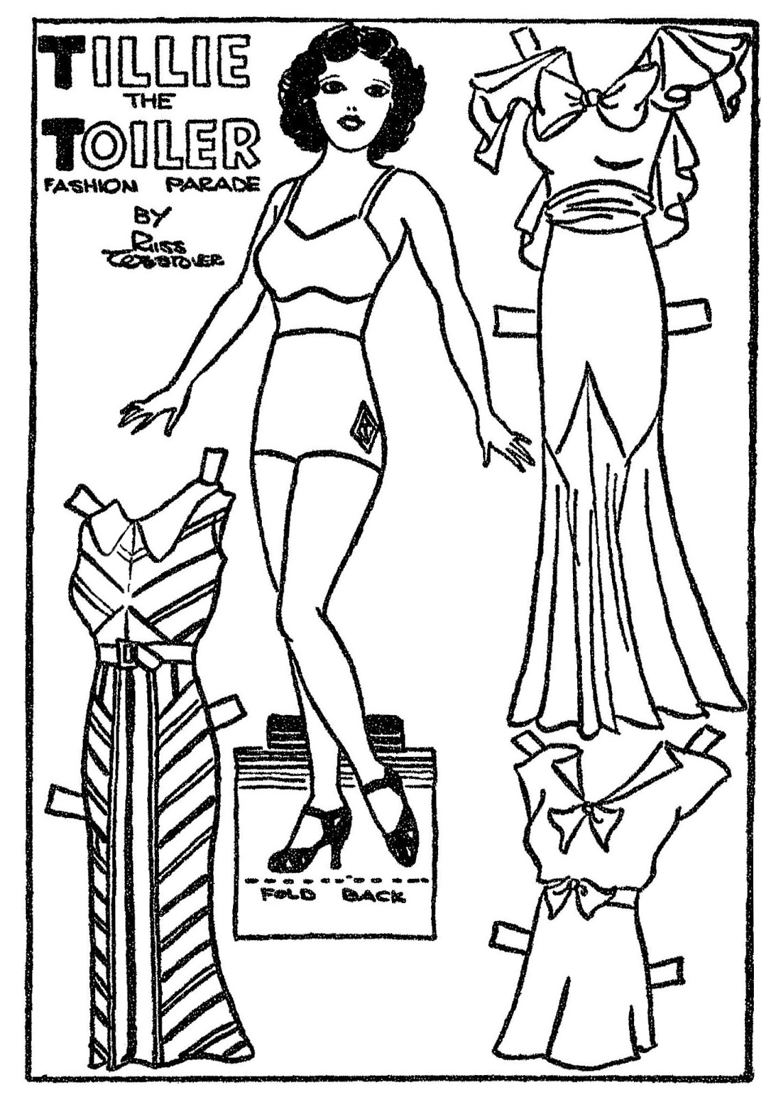 Mostly Paper Dolls Too!: TILLIE the TOILER Comic Strip