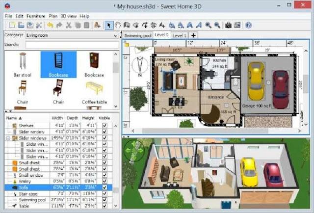 software desain rumah sweethome3d