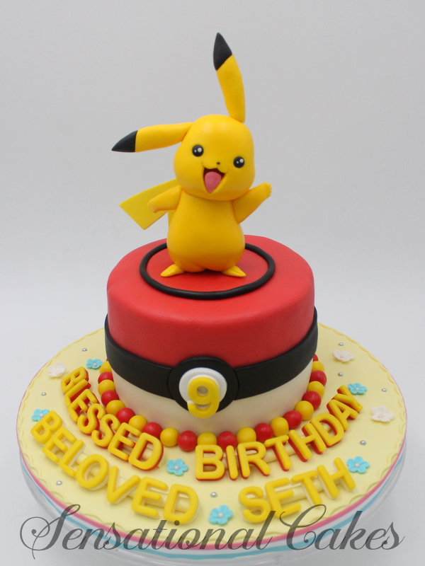 Pleasant The Sensational Cakes Boys Theme Pokemon Theme Ash Pikachu Funny Birthday Cards Online Elaedamsfinfo