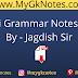 Hindi Grammar Notes PDF By - Jagdish Sir