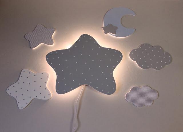 apliques de pared decoración infantil iluminación