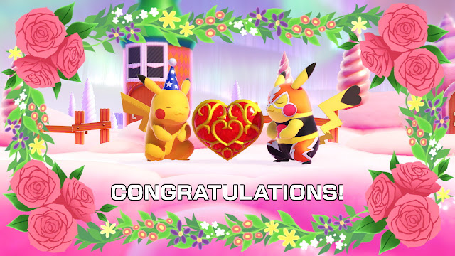 Pikachu male female Libre Super Smash Bros. Ultimate love Heart Container congratulations Valentine's