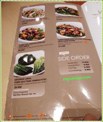 imperial kitchen menu sayuran