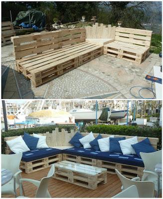 arredamento-giardino-bancali di legno-design