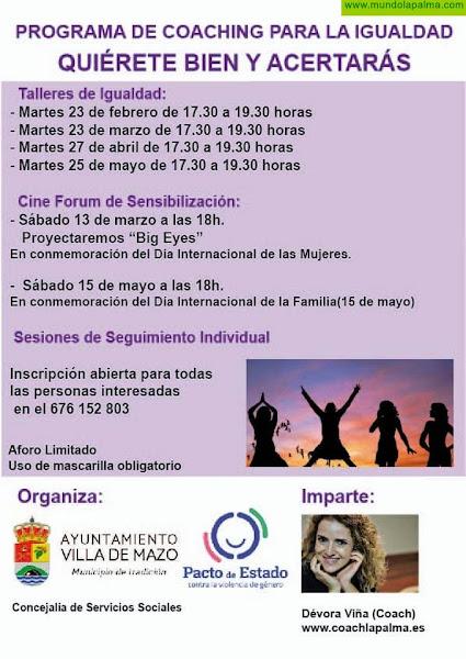 El Ayuntamiento de Villa de Mazo impulsa sesiones de formación para inspirar la igualdad de género