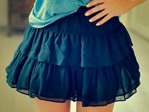 Выкройка многоярусной юбки