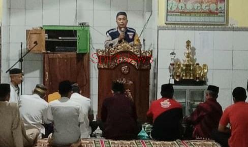 Personil Polsek Polut, Lakukan Pengamanan Sholat Tarwih Di Lima Masjid