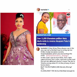 No one can tell a mother how to bring up a child - Tontoh Dikeh reacting to Akuapem Polo's arrest.
