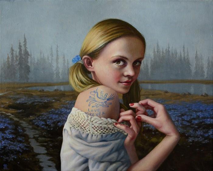 Желание отобразить внутреннее пространство человека. Jana Brike