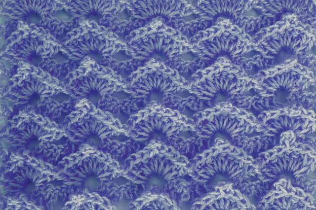 1-Crochet Imagen Puntada abanico a relieve a crochet y ganchillo por Majovel Crochet