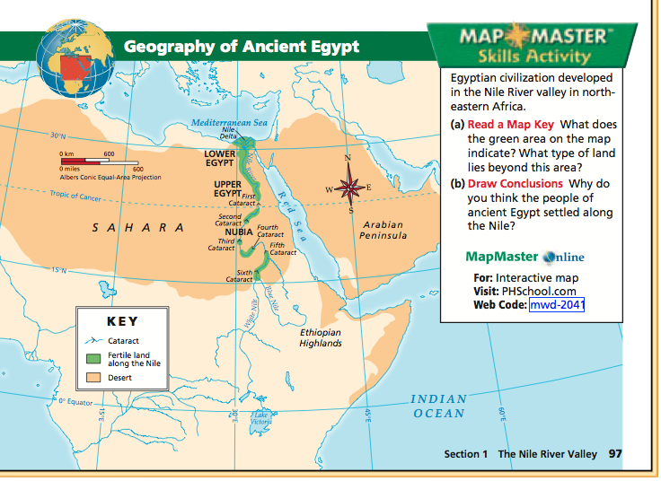 Social Studies With Mr McGinty Mapping Ancient Egypt - Map of egypt geography