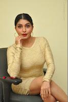 Actress Pooja Roshan Stills in Golden Short Dress at Box Movie Audio Launch  0042.JPG